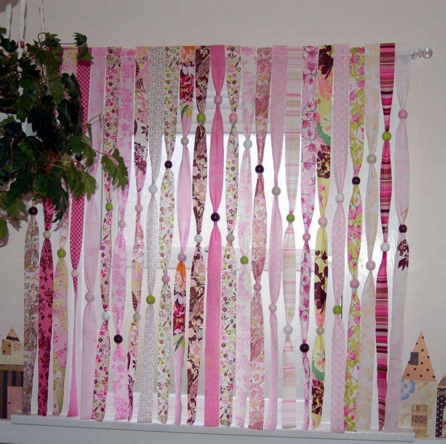Шторы для детской розовые