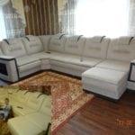 Перетяжка дивана (до и после)