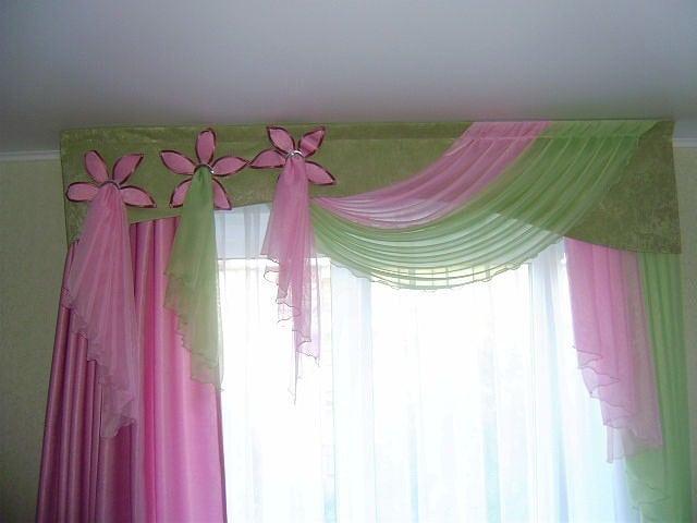 Шторы нежно-розовые