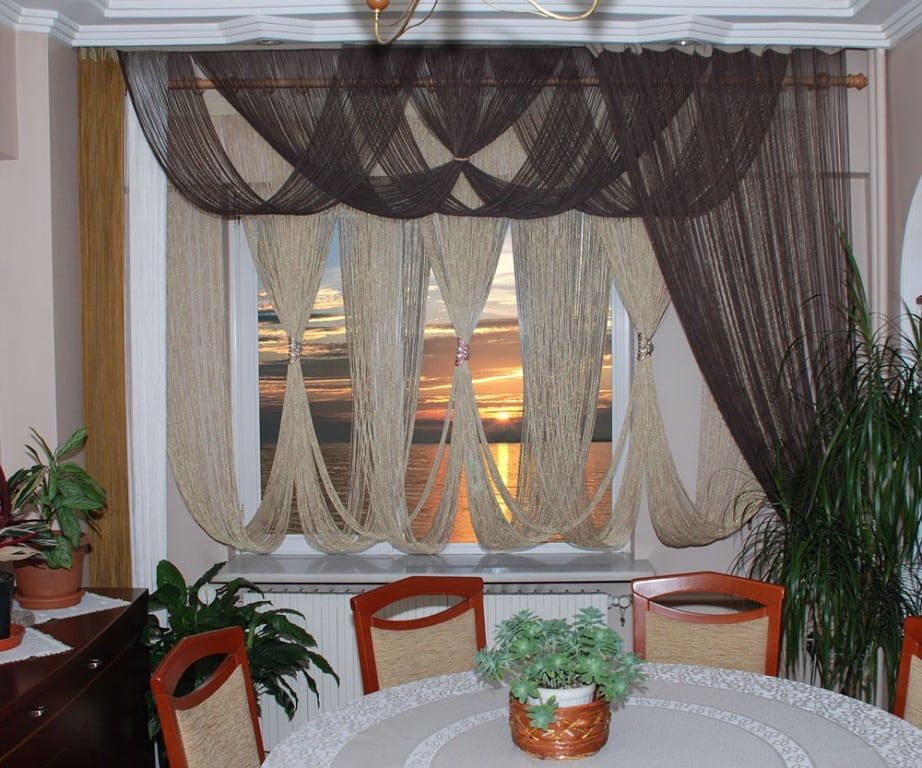 Нитяные шторы
