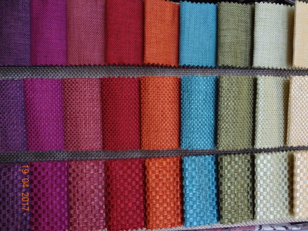 Однотонные фактурные ткани